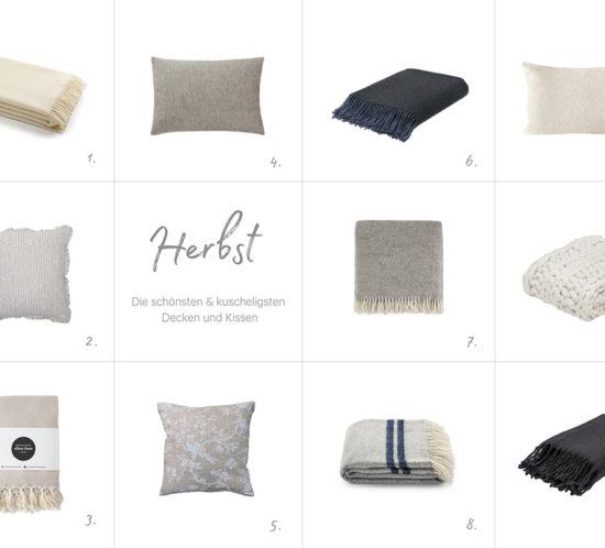 Die kuscheligsten Decken und Kissen