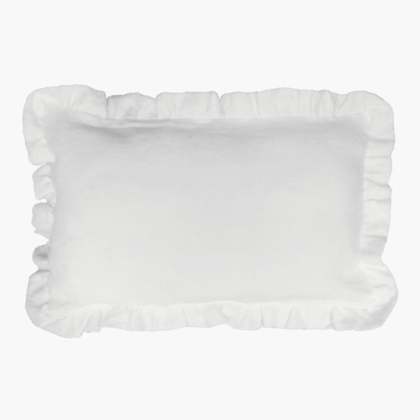 Kissen Lilia aus weißem Leinen