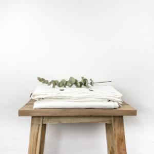 Bettdeckenbezug Elna Leinen weiß