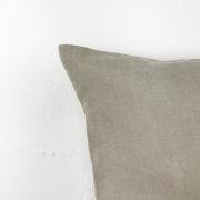 Kissen Edda Leinen beige Detail