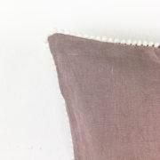 Kissen Ellie Leinen altrosa Detail