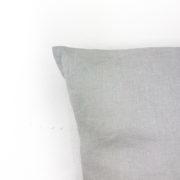 Kissen Ida Leinen hellgrau Detail