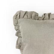 Kissen Moa Leinen beige Detail