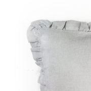Kissen Nilla Leinen grau Detail