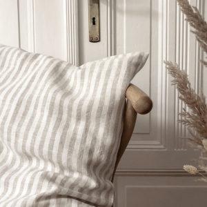 leinen-kissen-ida-natur-gestreift-detail
