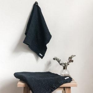 handtuch-freda-waffelstoff-leinen-anthrazit-blau