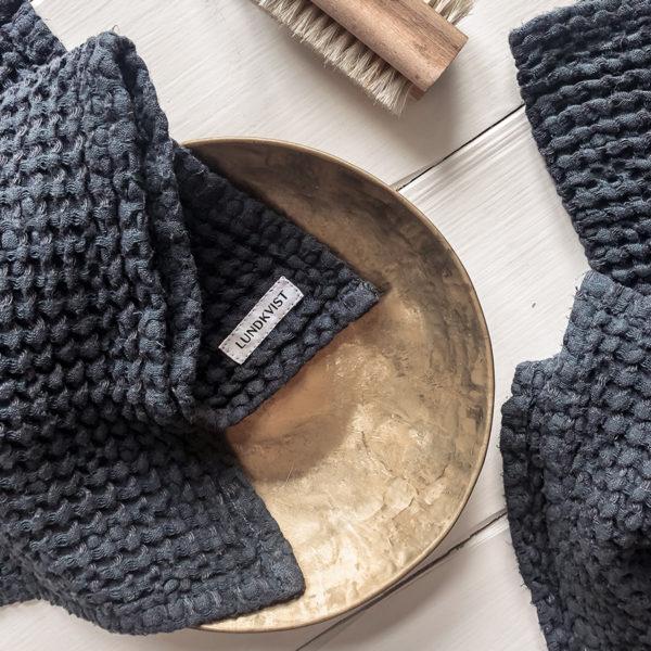 handtuch-freda-waffelstoff-leinen-anthrazitblau